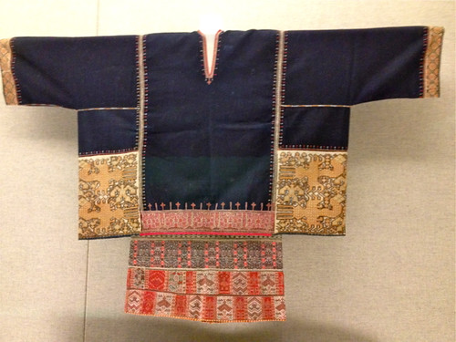 Woman's top with woven motif - Li people; Shanghai Museum