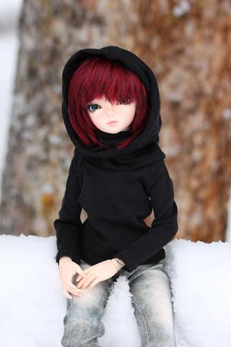 black cowl hoody