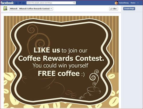 Like MRuncit Facebook, you will be able to join the coffee rewards contest and win some free coffee! I just love coffee! Weehhee.