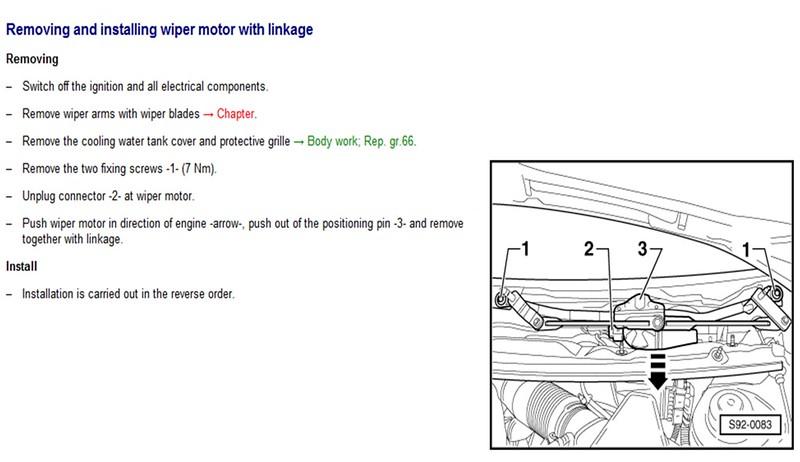 Front Wiper MotorUrgent help please     Skoda       Fabia    Mk    II