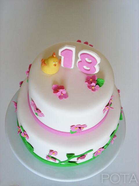 Gâteau d'anniversaire pour les 18 ans