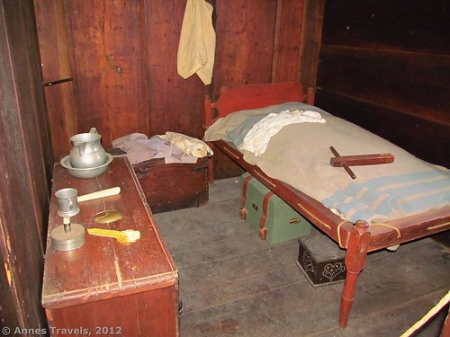 A bedroom at the Wick House, Jockey Hollow, Morristown National Historical Park, New Jersey