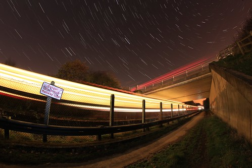 longexposure car station stars cheshire trails 8mm startrails bache merseyrail samyang capenhursttrainstation