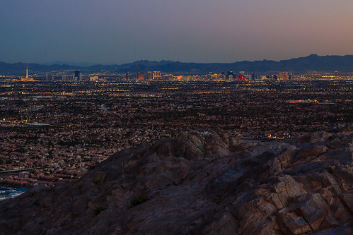 city sunset unitedstates lasvegas nevada moutains scenicviews