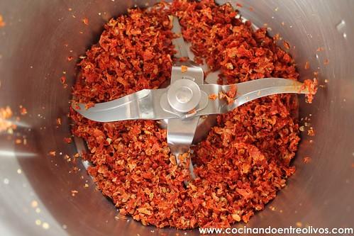 Polenta con tomate seco y orégano con anchoas (4)