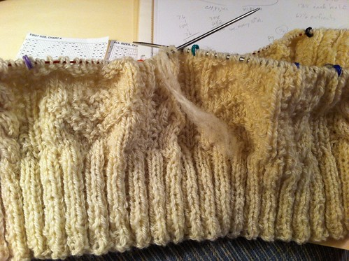 End of first skein of yarn - c. 276 yards knit so far. by BlueDragon2