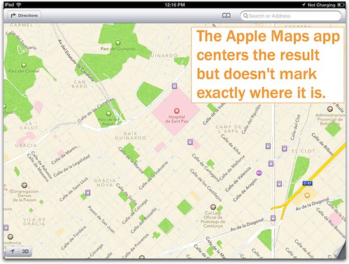 Apple Maps app from iBooks