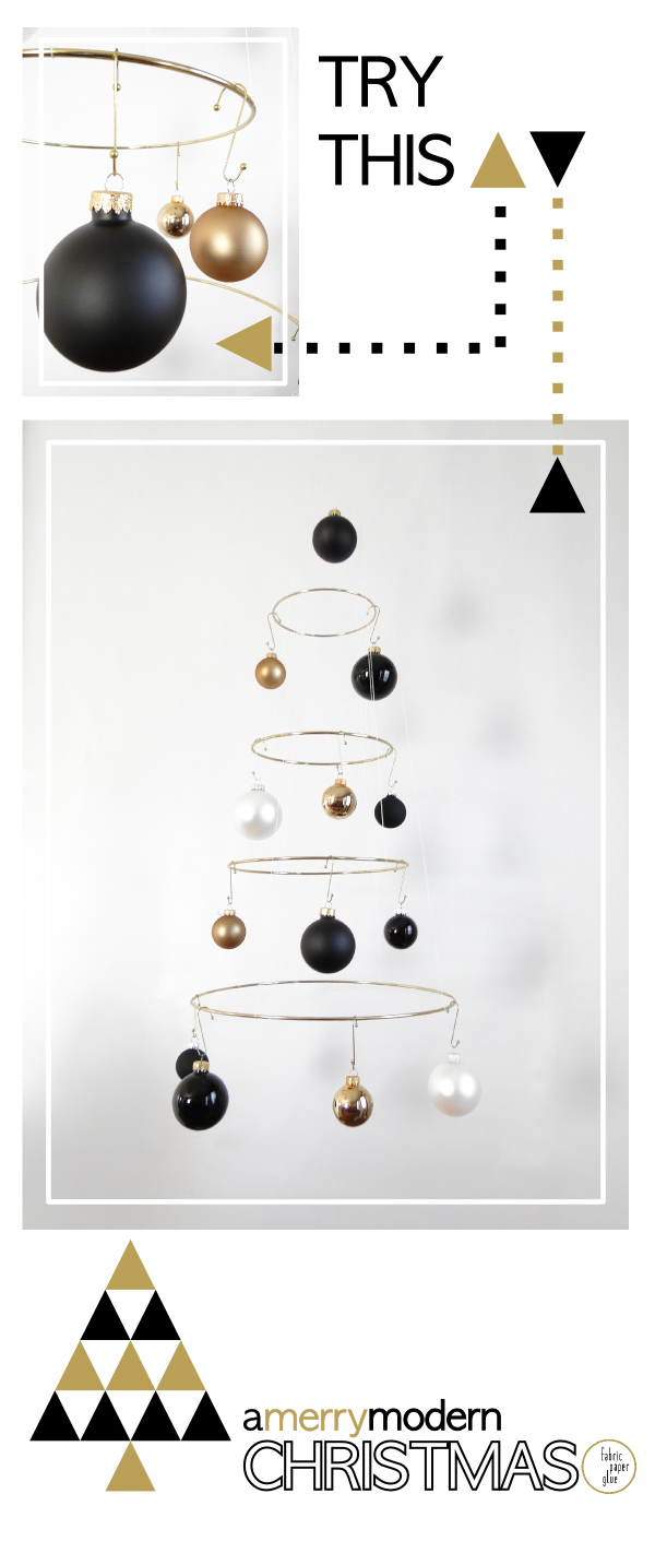Merry Modern Xmas Tree Tutorial