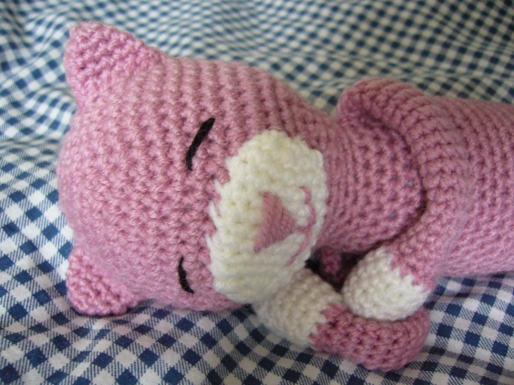 Crochet Cat Pattern, Cat Amigurumi Pattern, Crochet Sleeping Cat ... | 768x1024
