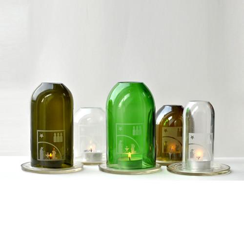 recycle design - újrahasznosított üveg mécses