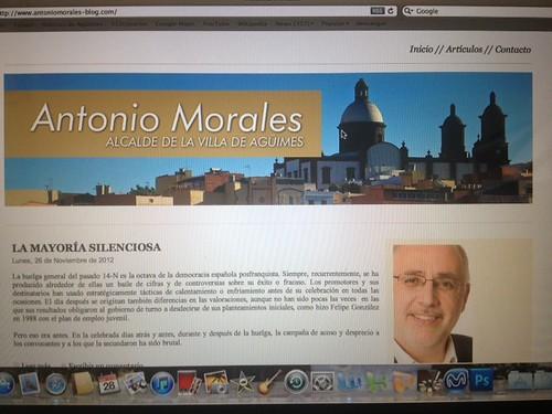 Noticias de ag imes antonio morales estrena un blog en el - Antonio martin morales ...