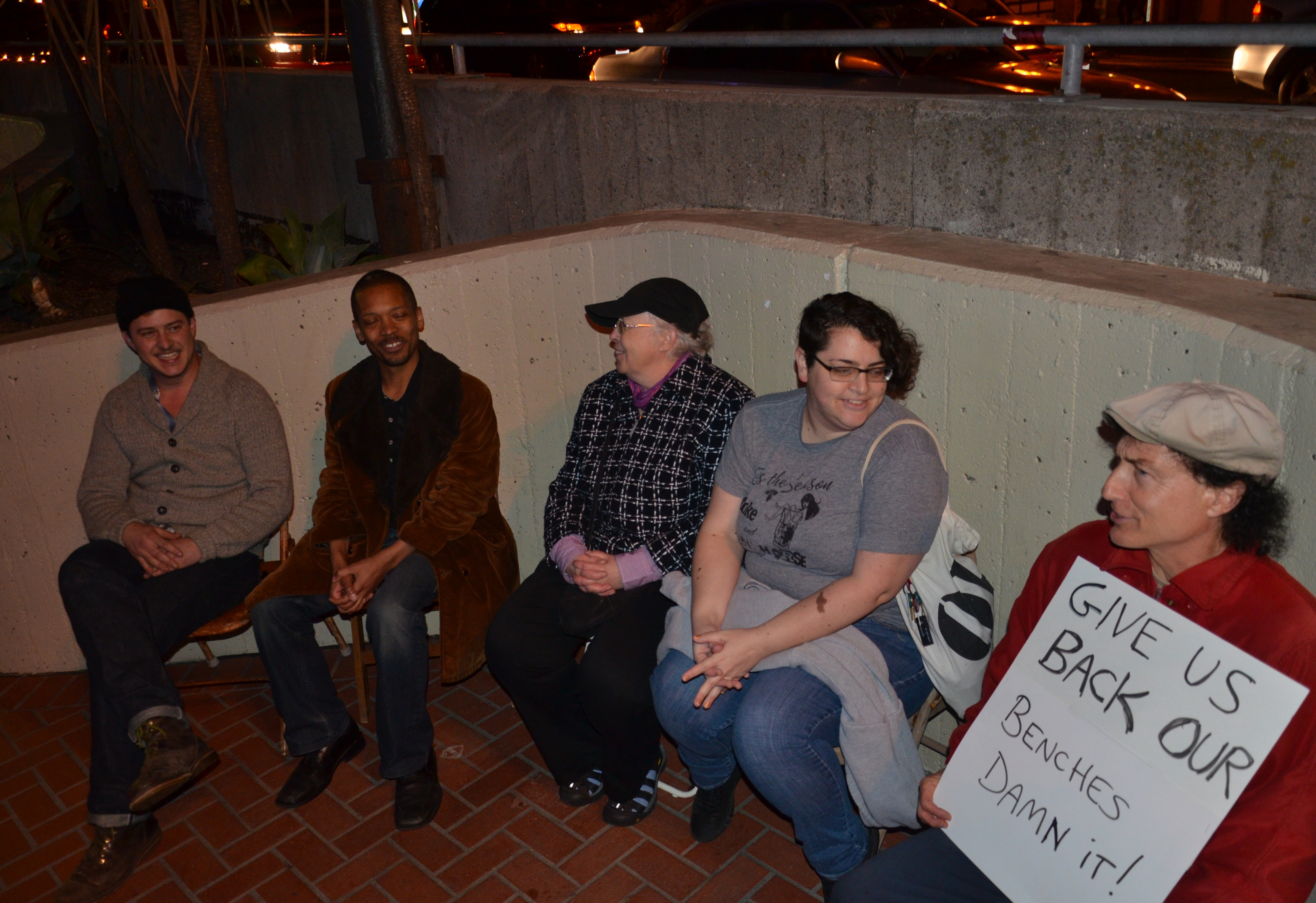 Give us back our benches - Candlelight memorial for Harvey Milk