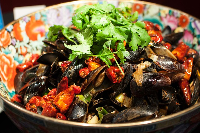 Chongqing OceanWise Media Launch/Mussels in Szechuan Bouillabaisse