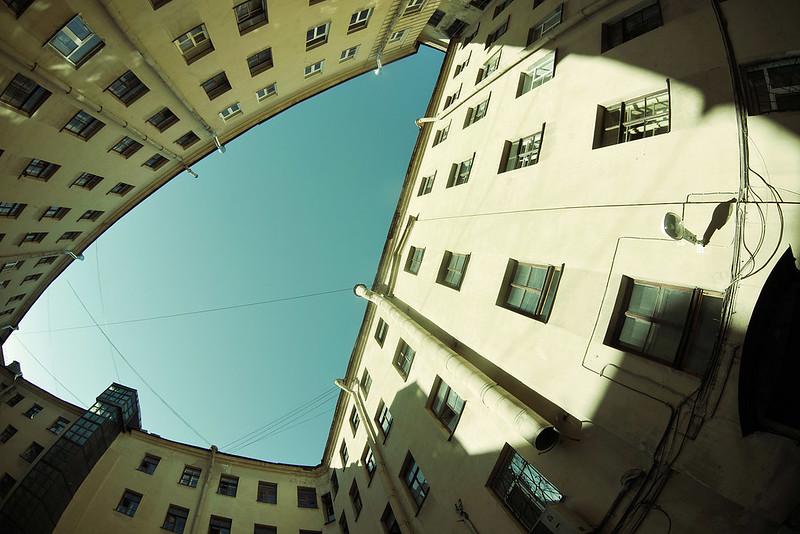 Triangle courtyard