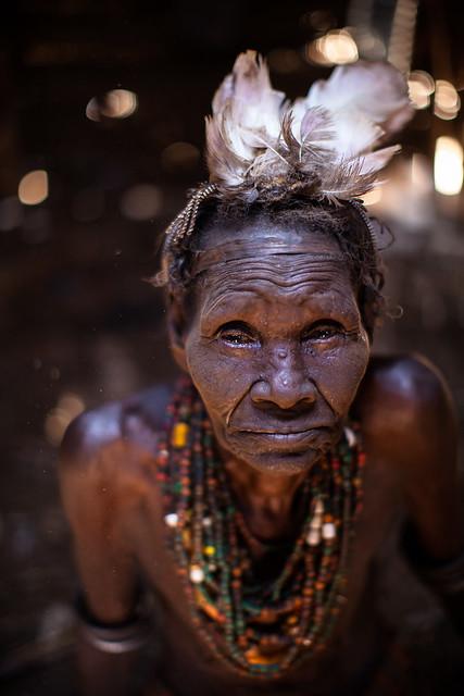 old woman dassanech(galeb) tribe