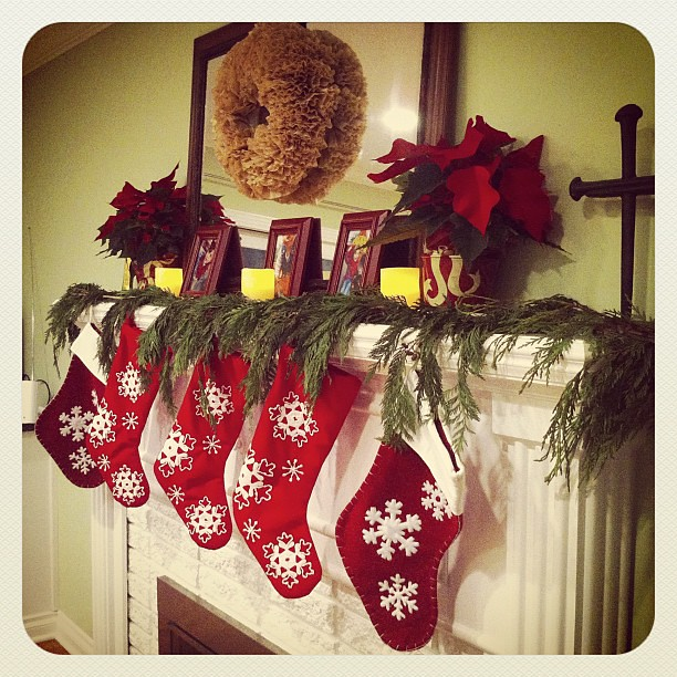 "The stockings are hung with care.  Alex is already filled with ""hope that St. Nicholas soon will be"" here!"
