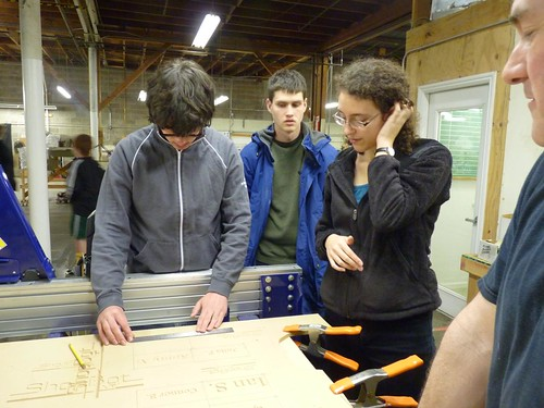 Peter, Andrew and Allie doing ShopBot training