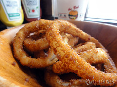 frying, deep frying, fried food, squid, onion ring, food, dish, cuisine, snack food, fast food,