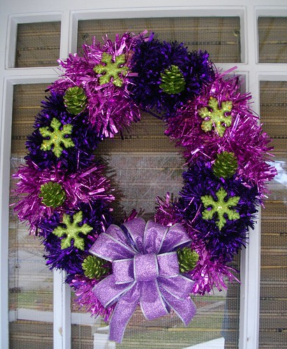 Modern Christmas Wreath by E. Magee