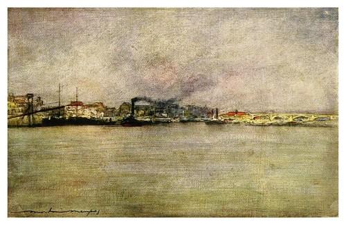 014- Buques de vapor en Charenton-Paris (1909)-Mortimer Menpes
