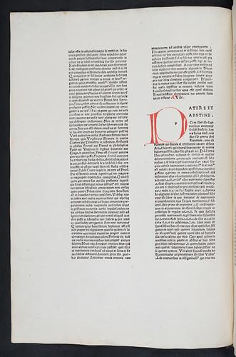 Penwork initial in Sancto Georgio, Johannes Antonius de: Super quarto libro Decretalium