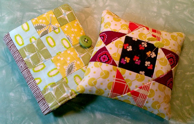 Needlebook & Pincushion for my partner!