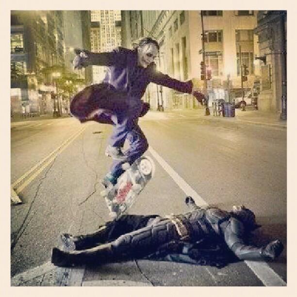 Orheyn Lay Lay Joker Version Song Download: Heath Ledger As The Joker Skateboarding Over Christian