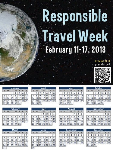 Responsible Travel Week and 2013 Calendar