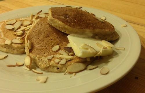 Whole Wheat Ricotta Almond Pancakes