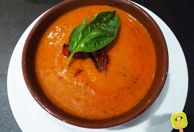 tomato soup at Villa Mansa Wine Hotel