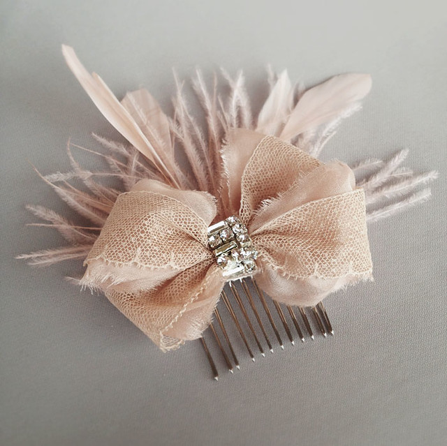 emici bridal blush lace bow