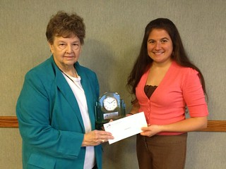 Contessa Harris (right) received the 2012 Excellence in Ag Literacy Award