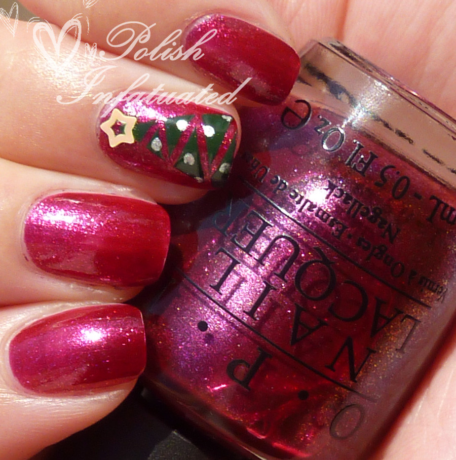 festive christmas tree nails5