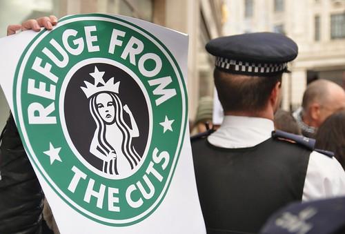 UK Uncut Starbucks Protests - London 2012