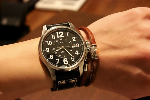 HAMILTON KHAKI FIELD OFFICER AUTO H70615733