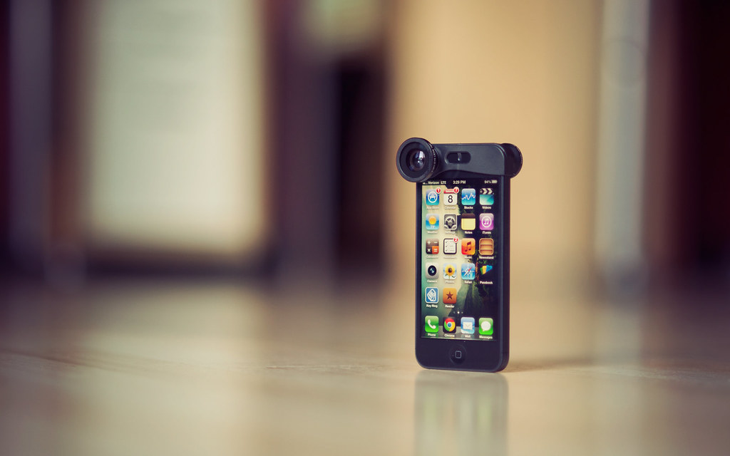 iphone 5 + 3in1 lens clip