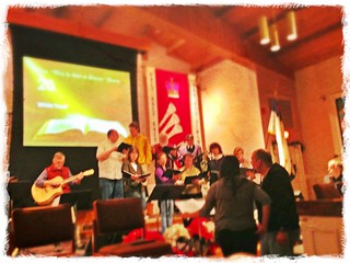 The #choir singing at #Christmas cantata practice. #xmas #snapseed #phototoaster