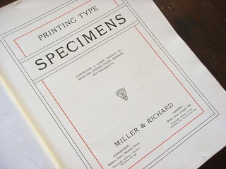 Miller & Richard type specimen book