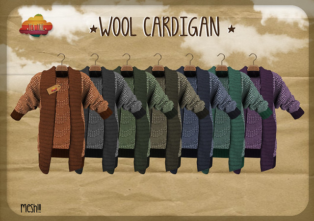 WOOL CARDIGAN *TeaTime* NEW!!!