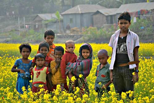 Adorable Village Children in Bangladesh