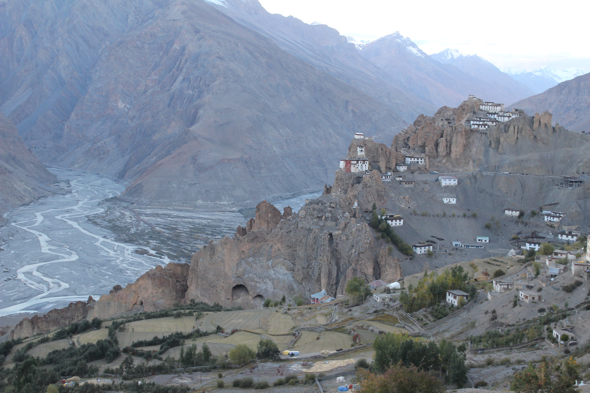 Dhankar Monastery and the confluence of Spiti and Pin rivers