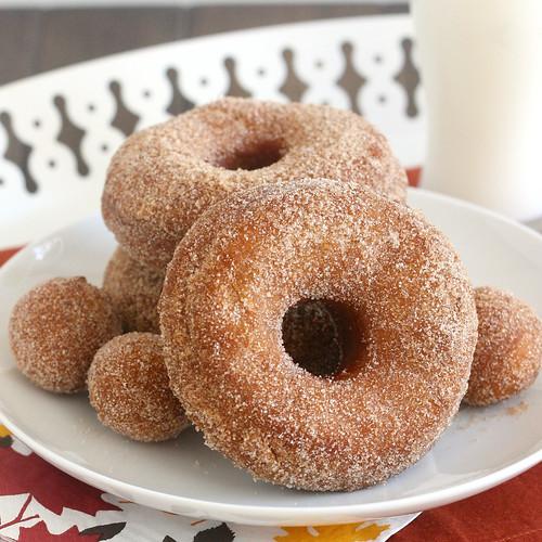 Cinnamon-Sugar Pumpkin Doughnuts