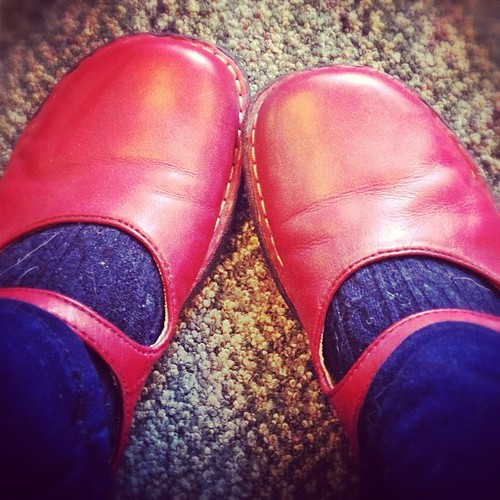 Boosting my energy on this time change Monday with red kicks! #nanowrimo