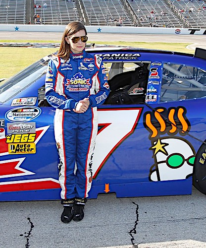 Danica Patrick at the O'Reilly Auto Parts Challenge, Nov 3 2012