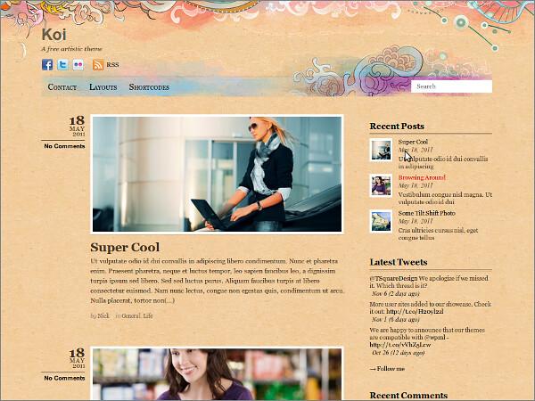 Koi Free WordPress Theme