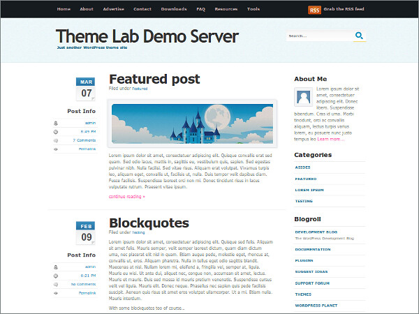 Cool Blue Free WordPress Theme