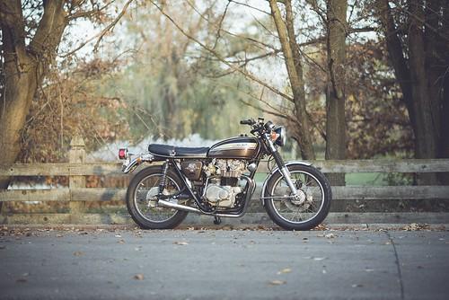 My 1974 Honda CB450 by NathanielS