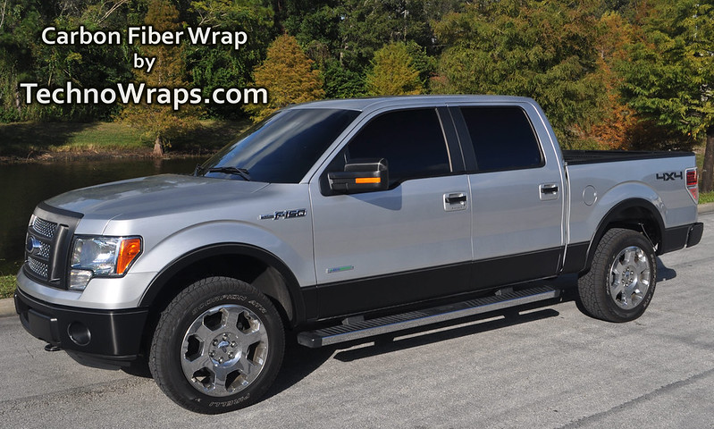 Carbon fiber truck wrap