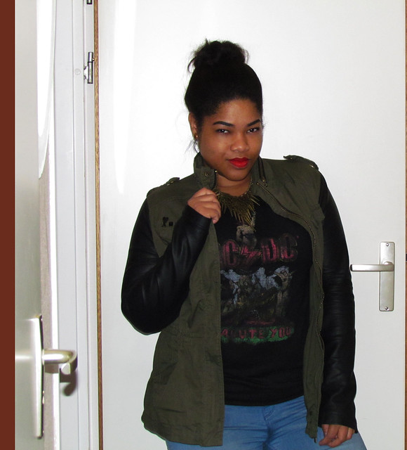 Army, contrast sleeve, Zara, New Look, Supertrash, Primark, OOTD, Outfit, Outfit of The Day