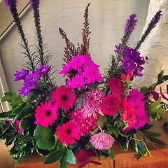 Mother's flower arrangement